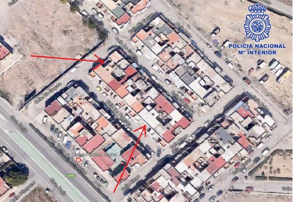 Mapa de situación de las viviendas afectadas por la operación
