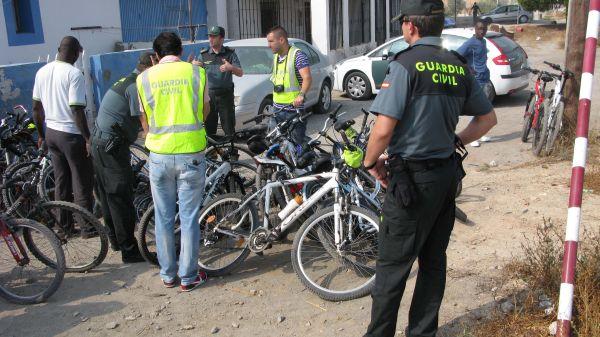 bicicletas robadas en Roquetas