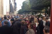 Jubilados de Almería muestran en la calle su indignación por la