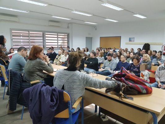 Momento de la asamblea celebrada en el IES Sierra Alhamilla