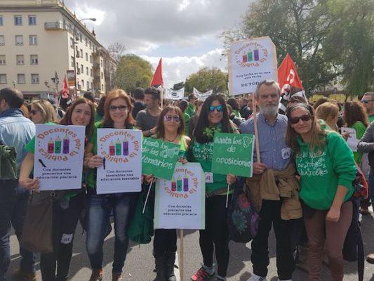 Delegación almeriense de 'Docentes por la Pública'