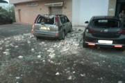 El temporal de viento provoca la caída de parte de un edificio en Turre
