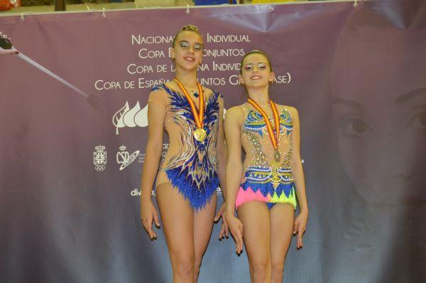 Victoria Pérez y Laura Gil, campeona y subcampeona de España. Gimnasia