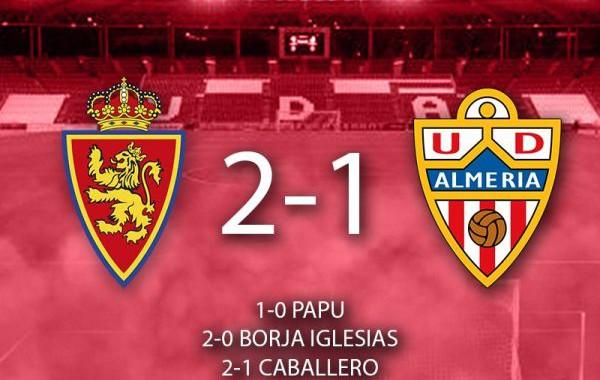 El Almería cae en Zaragoza (2-1)