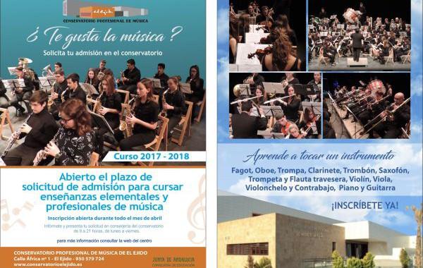 El plazo para matricularse en el Conservatorio Profesional de Música de El Ejido finaliza el 30 de abril