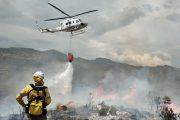 Estabilizado el incendio forestal provocado por un rayo en un paraje de Tabernas