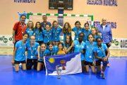 Las alevines del Club Balonmano Roquetas, subcampeonas de Andalucía
