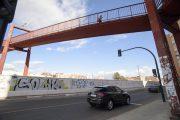 Cerrado el acceso a la pasarela peatonal de la Estación a Sierra Alhamilla por obras desde este martes