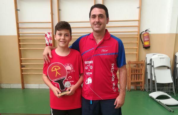 Alonso Rincón, campeón del Top Andaluz 16 alevín de tenis de mesa
