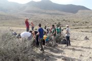 Voluntarios ambientales trabajan sobre el cambio climático en el Parque Natural de Cabo de Gata