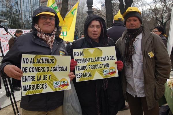 Protesta de Agricultores ante el Acuerdo UE-Marruecos