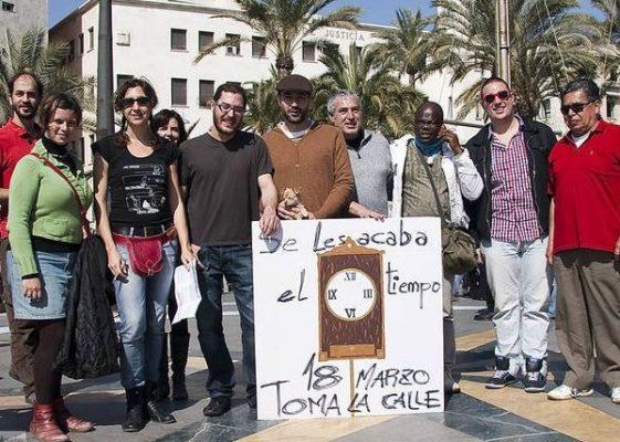 Acampada Almería manifestación 18 M