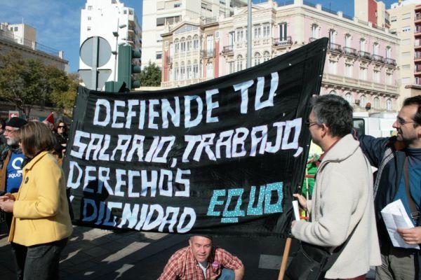 EQUO manifestación contra la reforma laboral