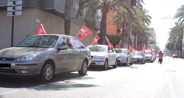 Caravana de protesta UGT