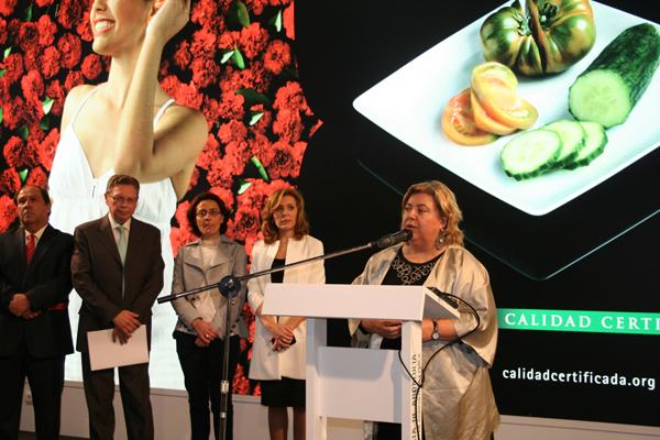Clara Aguilera en la XXVII Expo Agro Almería