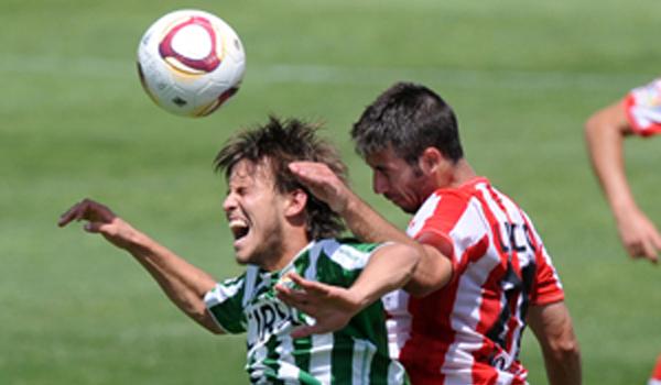 Lillo ha cuajada un gran partido, al igual que todos sus compañeros, en el final de temporada del UD Almería B