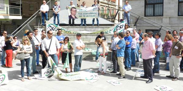 El Sindicato Independiente de Funcionarios ha transformado su acto en un recuerdo a su compañero