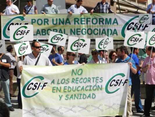 El Sindicato Independiente de Funcionarios había convocado un acto reivindicativo contra la Reforma Laboral y los recortes del Gobierno