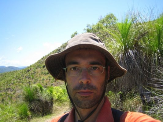 El escritor de libros de viajes Gabi Martínez, en la Fundación Cajamar
