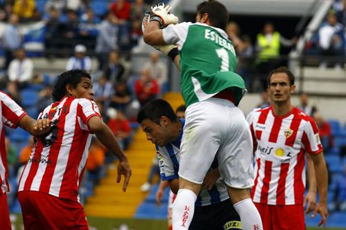 La UD Almería ha ganado y empatado ante Alcorcón y Córdoba, ha ganado y perdido ante Dépor y Celta, y ha empatado dos veces ante Hércules y Alicante
