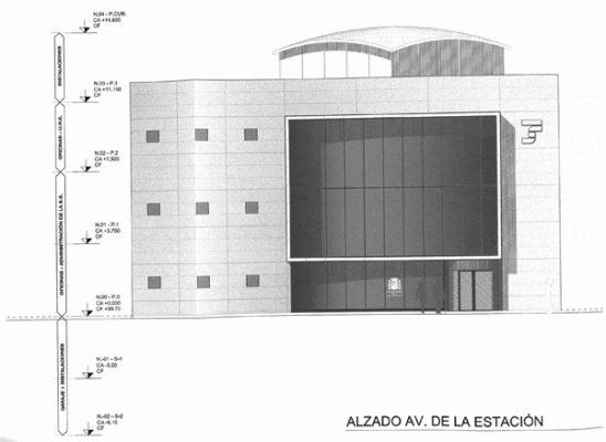 El alzado de cómo quedará el nuevo edificio de servicios en el Levante de Almería
