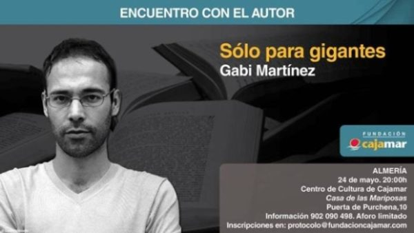 Gabi Martínez en la Fundación Cajamar