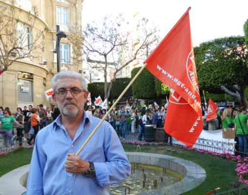 El secretario general de la UGT en Almería ha estado presente en la movilización