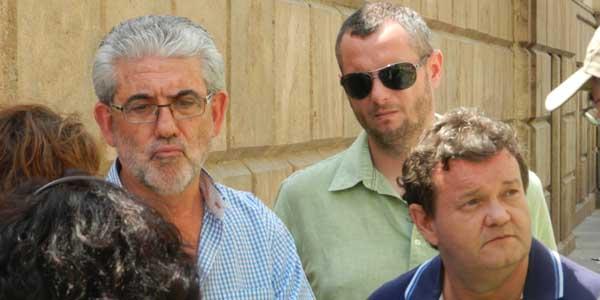Los líderes de UGT y CCOO en la provincia de Almería se han vuelto a concentrar por la muerte de un trabajador