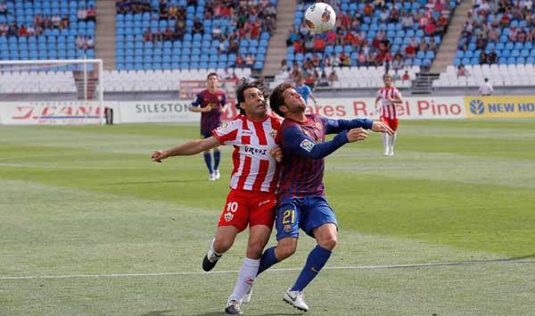 El capitán de la UD Almería ha aprovechado el tiempo que ha jugado para reivindicarse