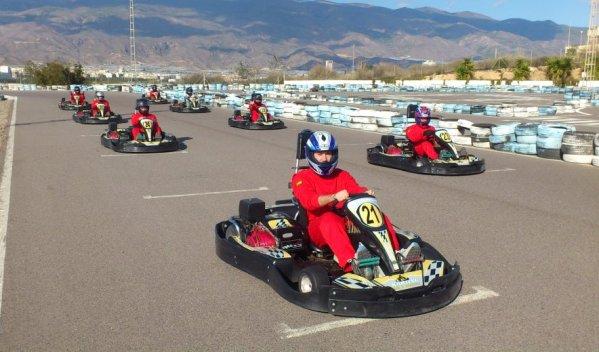 Karting Almería Parrilla salida Gran Premio