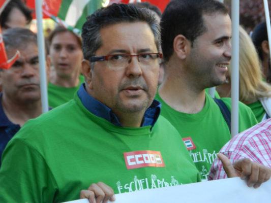 CCOO tiene a Antonio Valdivieso como responsable de educación en la provincia de Almería