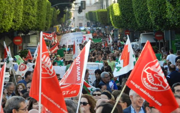 Contra los recortes en la enseñanza pública Almería se ha movilizado masivamente