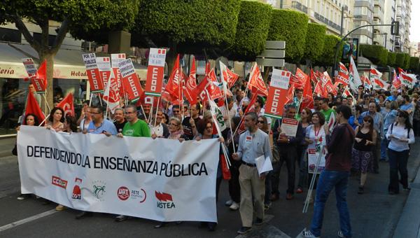 Todos los sindicatos representativos en el sector de enseñanza se han unido en la protesta
