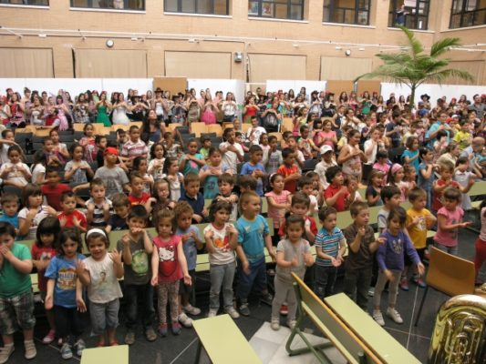 Niños participantes en los conciertos didácticos de la UAL