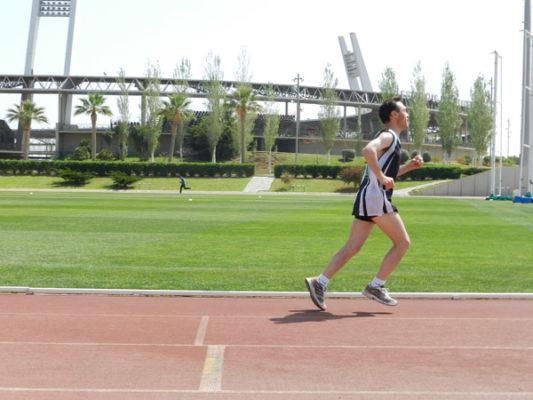 Estadio de los Juegos Mediterráneos presidiendo la prueba de 800 metros del PAIDA