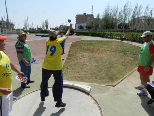 El lanzamiento de peso fue una de las pruebas más concurridas en el PAIDA 2012