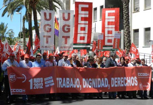 Los sindicatos 'de clase' han encabezado la marcha, multitudinaria en esta ocasión