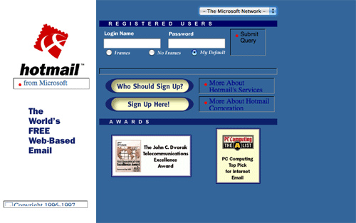 Hotmail 1998