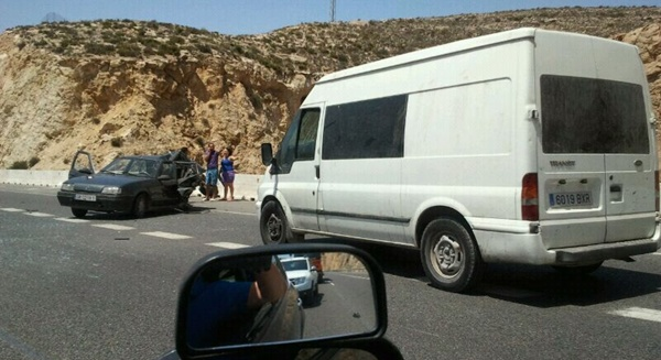 El accidente ocurrido en la autovía del Mediterráneo A-7 ha ocurrido entre la Rambla Federico García Lorca y el Puerto