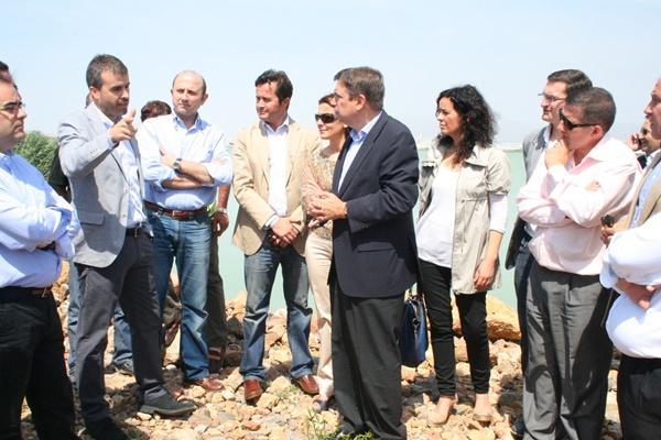 El consejero de Medio Ambiente de la Junta visita la Balsa del Sapo, en la localidad de El Ejido