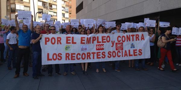 La de la Ciudad de la Justicia de Almería ha sido una de las concentaciones más significativas de la defensa de los Servicios Públicos