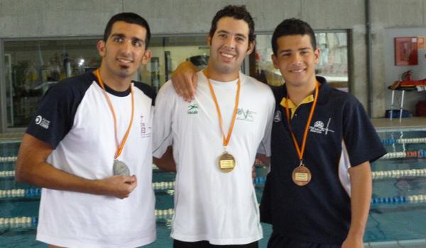 El mejor nadador de Almería se ha llevado cinco medallas del Campeonato de España de Natación Adaptada en Pontevedra
