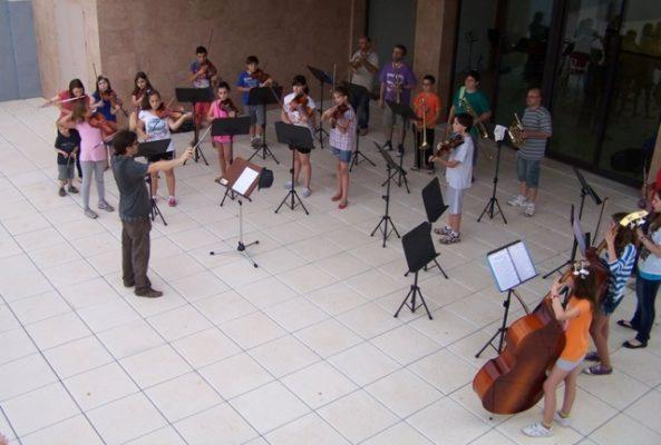 Concierto a las puertas del Conservatorio de El Ejido
