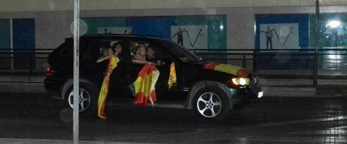 Algunos conductores se trabajaron muy mucho la estética española de su vehículo