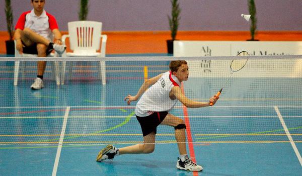 El badminton español tiene en categoría infantil a su gran dominador en la figura de Joaquín Reina
