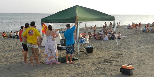 Los almerienses pudieron disfrutar de sus playas en San Juan y también del pase a semifinales de la Eurocopa de España ante Francia