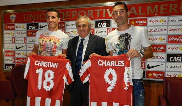 La UD Almería ha presentado a sus dos primeros refuerzos para la Liga Adelante