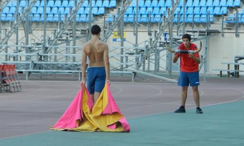 Las maneras de los alumnos de la Escuela Municipal Taurina de Almería apuntan alto