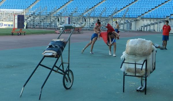La Escuela Municipal Taurina de Almería usa el Estadio del Mediterráneo como coso