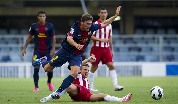 Todo el Almería trabajó mucho para ganar en el Mini Estadi, y Aarón fue uno de los destacados